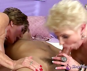 Horny Grannies Enjoy Hard Cock in Their Pussy