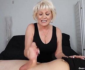 Granny POV handjob