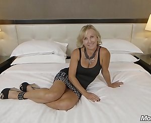 All Natural Big Tits Czech MOM Very first Porn and Facial Ever POV
