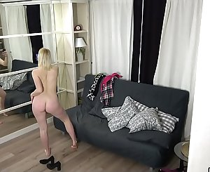 Spy cam in the room my youthful big tits stepdaughter