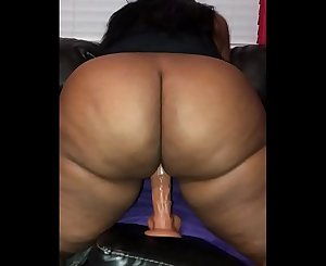 """Sashabooty2000 attempting out her new 10"""" dildo"""