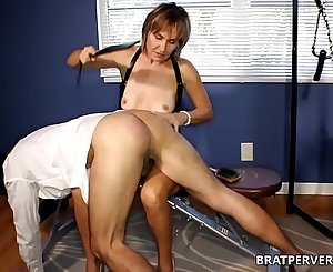 Mature Milf Spanks her Sub