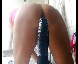Fucking my 12 inch Dildo