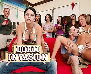 BANGBROS - College Dormitory Gets Invaded By Diamond Kitty, Nikki Sexx, Alexis Fawx & Richelle Ryan