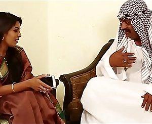Arab Sheikh kissing pressing hooters
