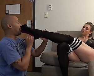 Rapture - Big Tit Muscle Lady Foot Adore and Spanking