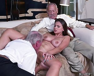 Old Guys Perving on Youthful Girl